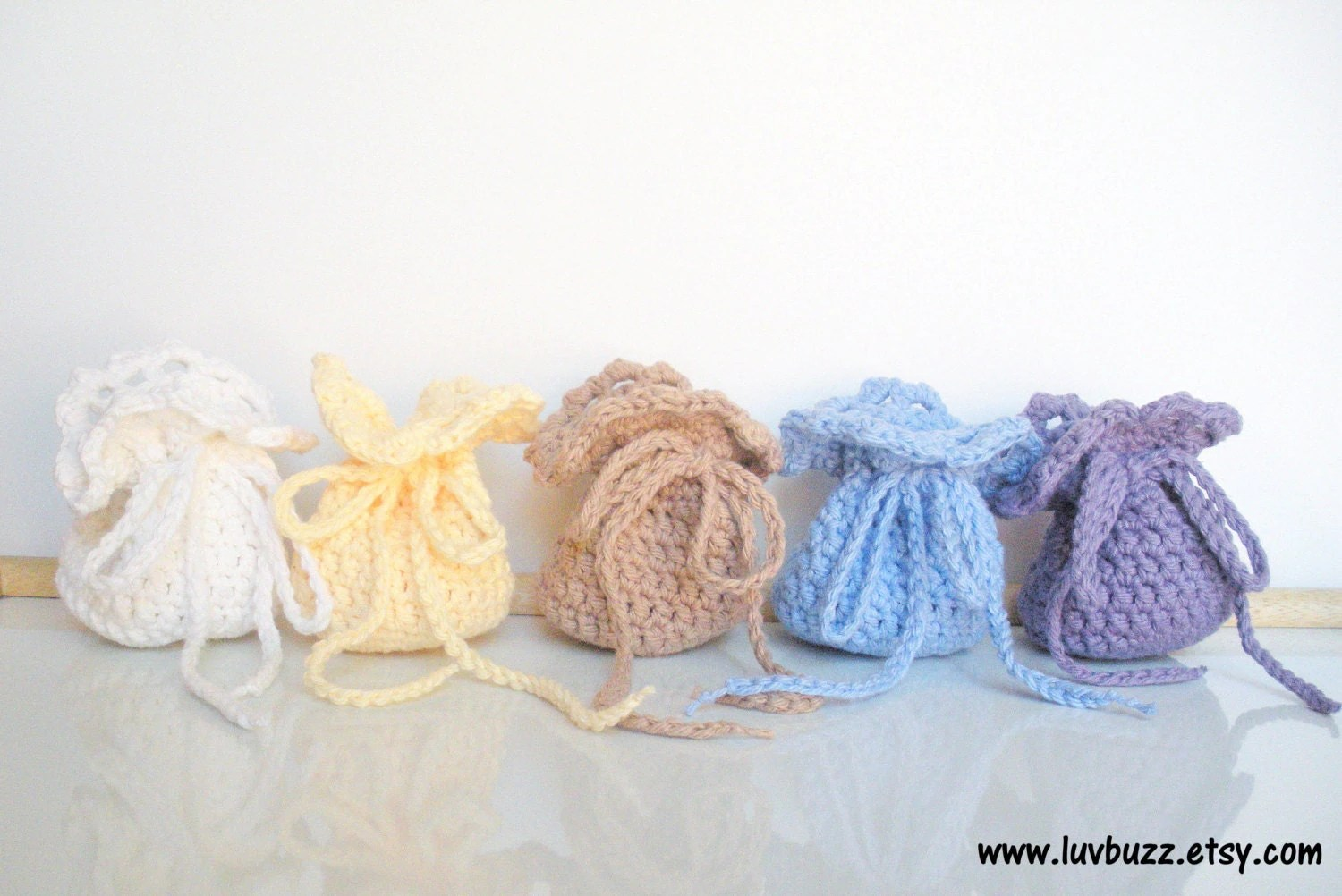 Crochet Wedding Favor Bags Set Of 20 Or More Party By Luvbuzz