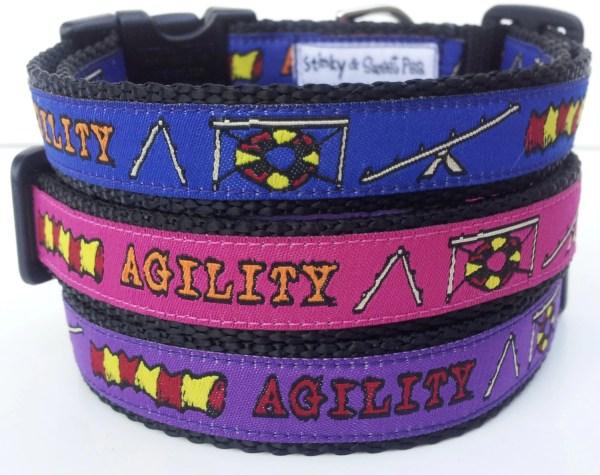 Agility Dog Collar Handmade Pet Accessories Adjustable