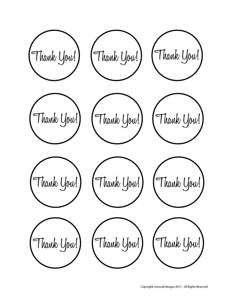 Items similar to Favor Tags, Printable, Thank You, Wedding