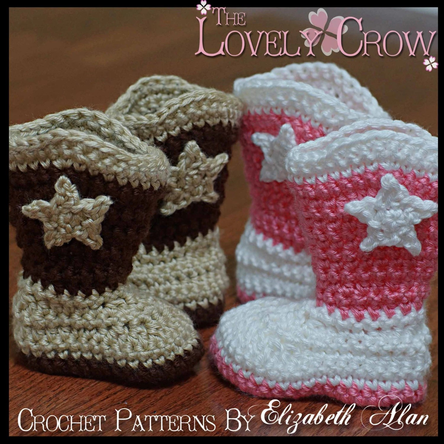 Cowboy Boot Baby Booties Free Crochet Pattern