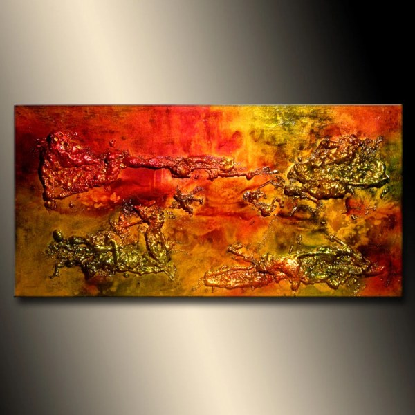 Original Abstract Painting Modern Textured Palette Knife