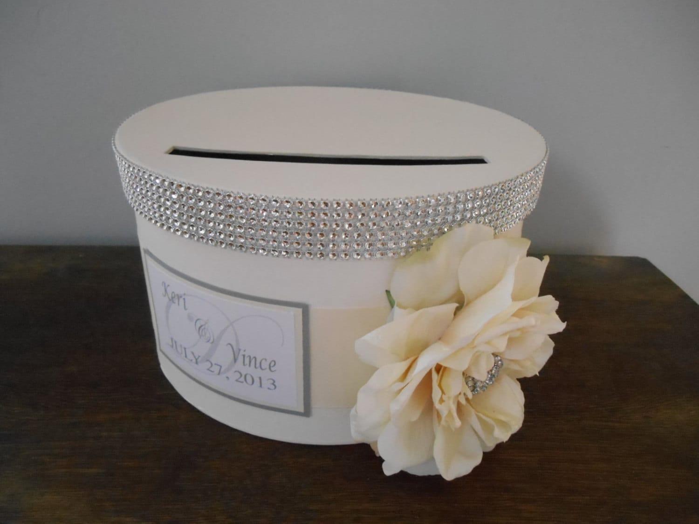 Glam Wedding Card Box Round Card Box Custom Wedding Reception
