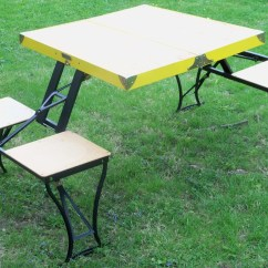 Folding Chair Menards Protector Covers Vintage Fold Up Picnic Table Handy And Set By