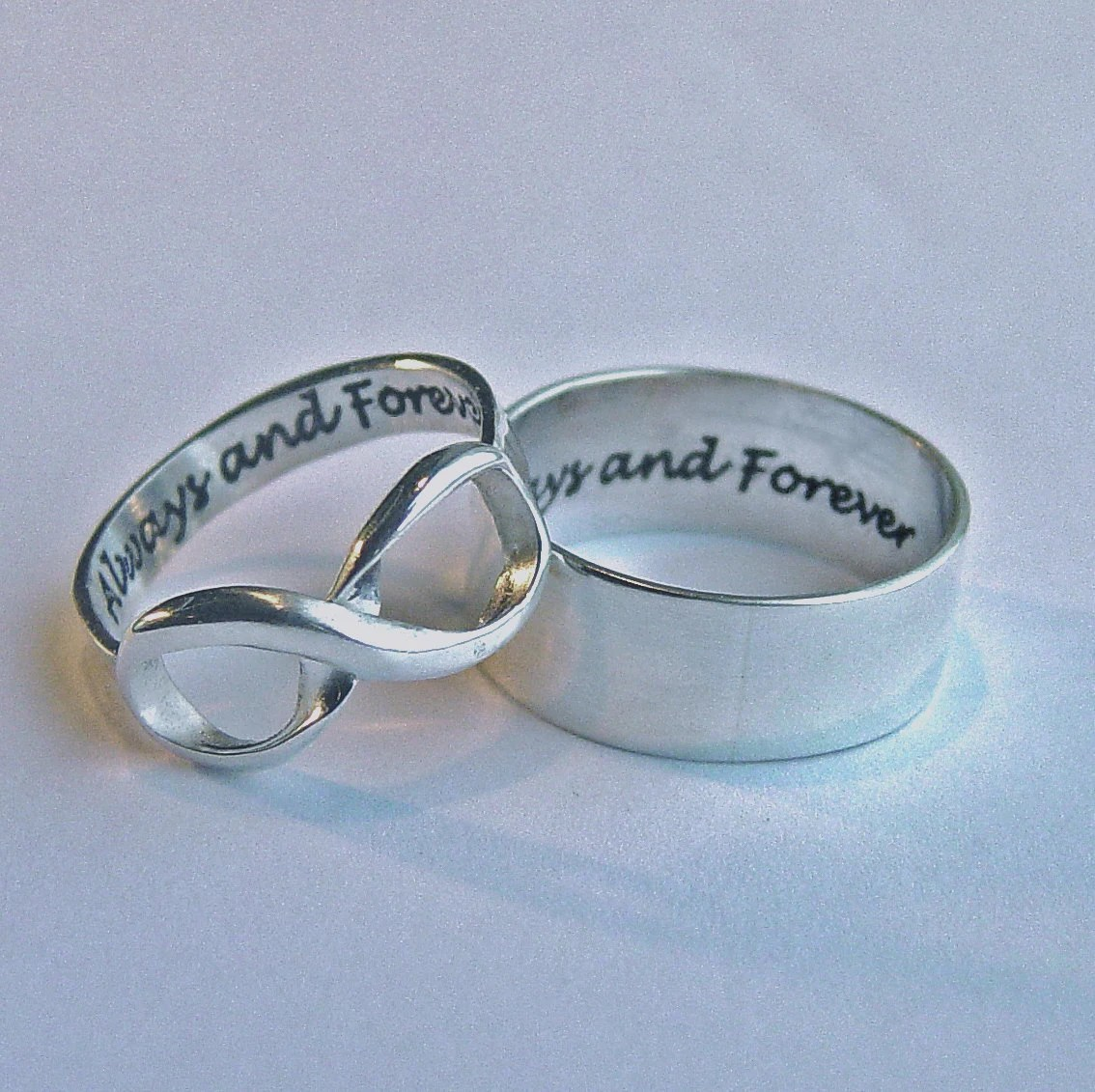 His And Hers Jewelry Infinity Ring Set Always Amp Forever