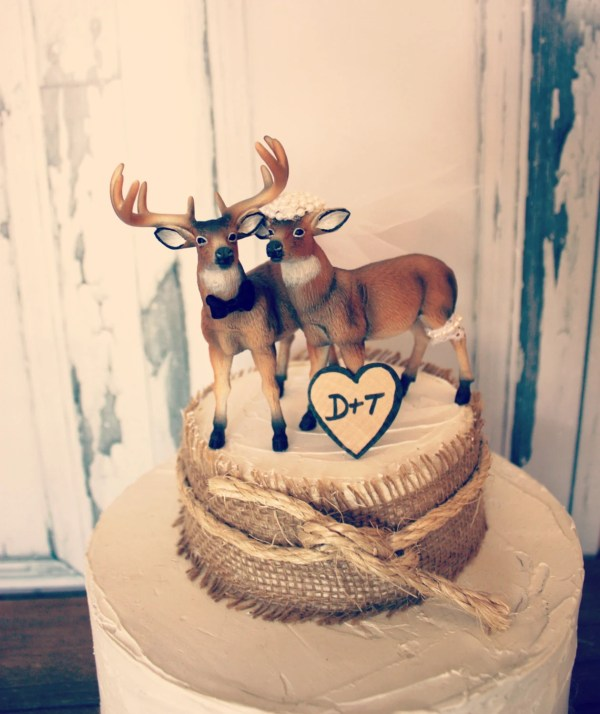 Deer Hunting Wedding Cake Topper