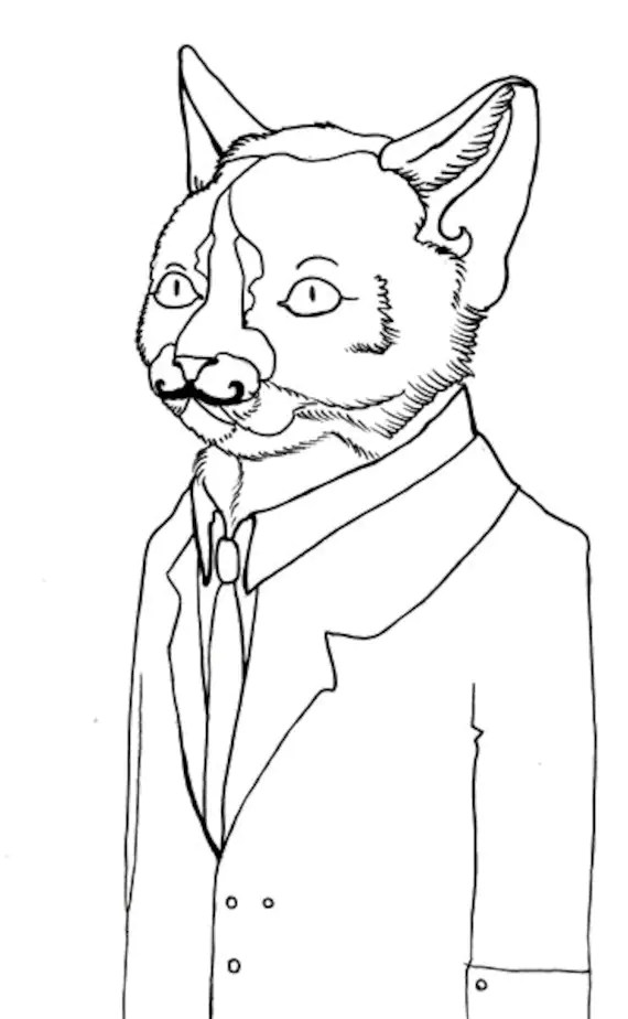 Items similar to business cat: cat with mustache in suit