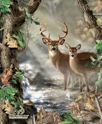 Realtree Fabric Deer Fabric Deer Wall by thebusybeequilting