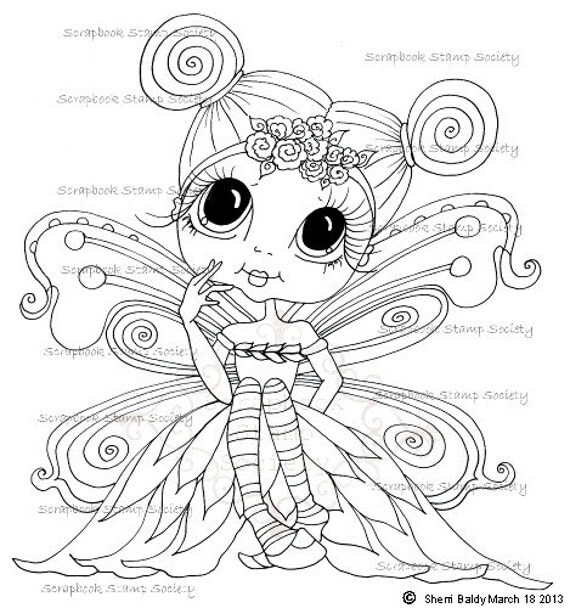 INSTANT DOWNLOAD Digital Digi Stamps Big Eye Big My Besties