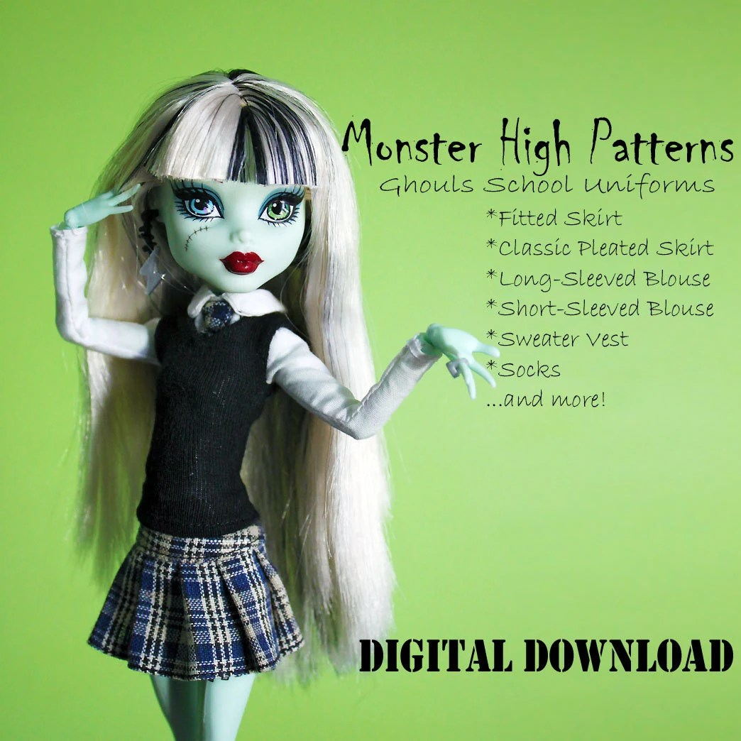 Easy Monster High Custom School Uniform Doll Clothes By