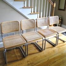 Vintage Chairs Marcel Breuer Inspired Eames Era Cesca Chrome