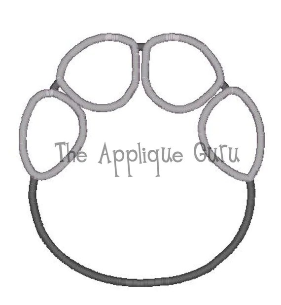 Elephant Footprint Applique Machine Embroidery Design
