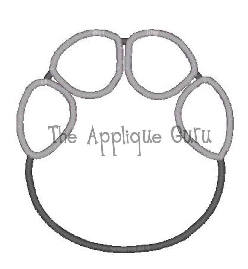 Elephant Footprint Applique Machine Embroidery Design