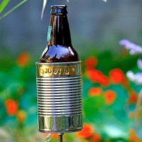 Hobo Tin Can Beer Holder/ Personalized Garden Drink Holder/