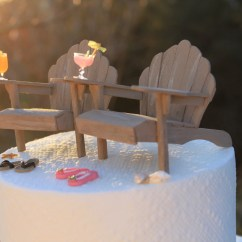 Adirondack Chair Cake Topper And Stool Store Beach Theme Wedding Chairs Flip Flops