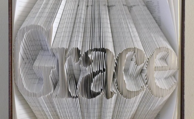 Folded Book Art Personalized Gift Your Name By Lucianafrigerio