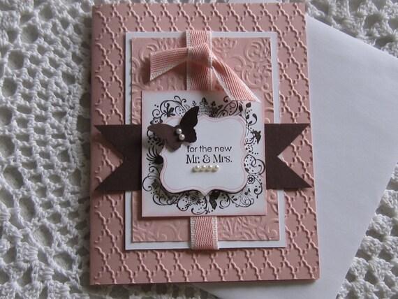 Items Similar To Handmade Greeting Card Elegant Wedding