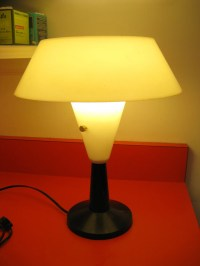 Vintage 1964 Table Lamp by C.N. Burman Co. UFO Light