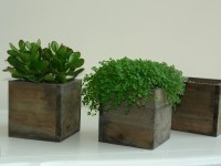 wood box wood boxes woodland planter flower box rustic pot ...
