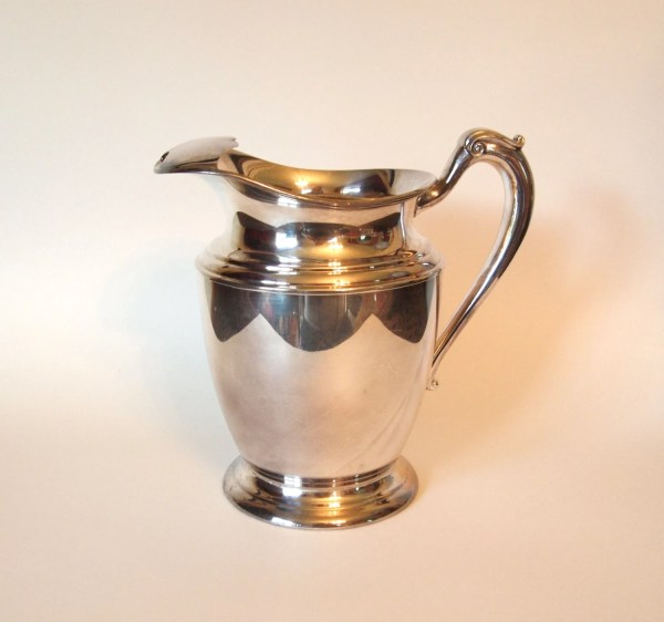 Vintage Silver Plated Water Pitcher With Ice Houseoflucien