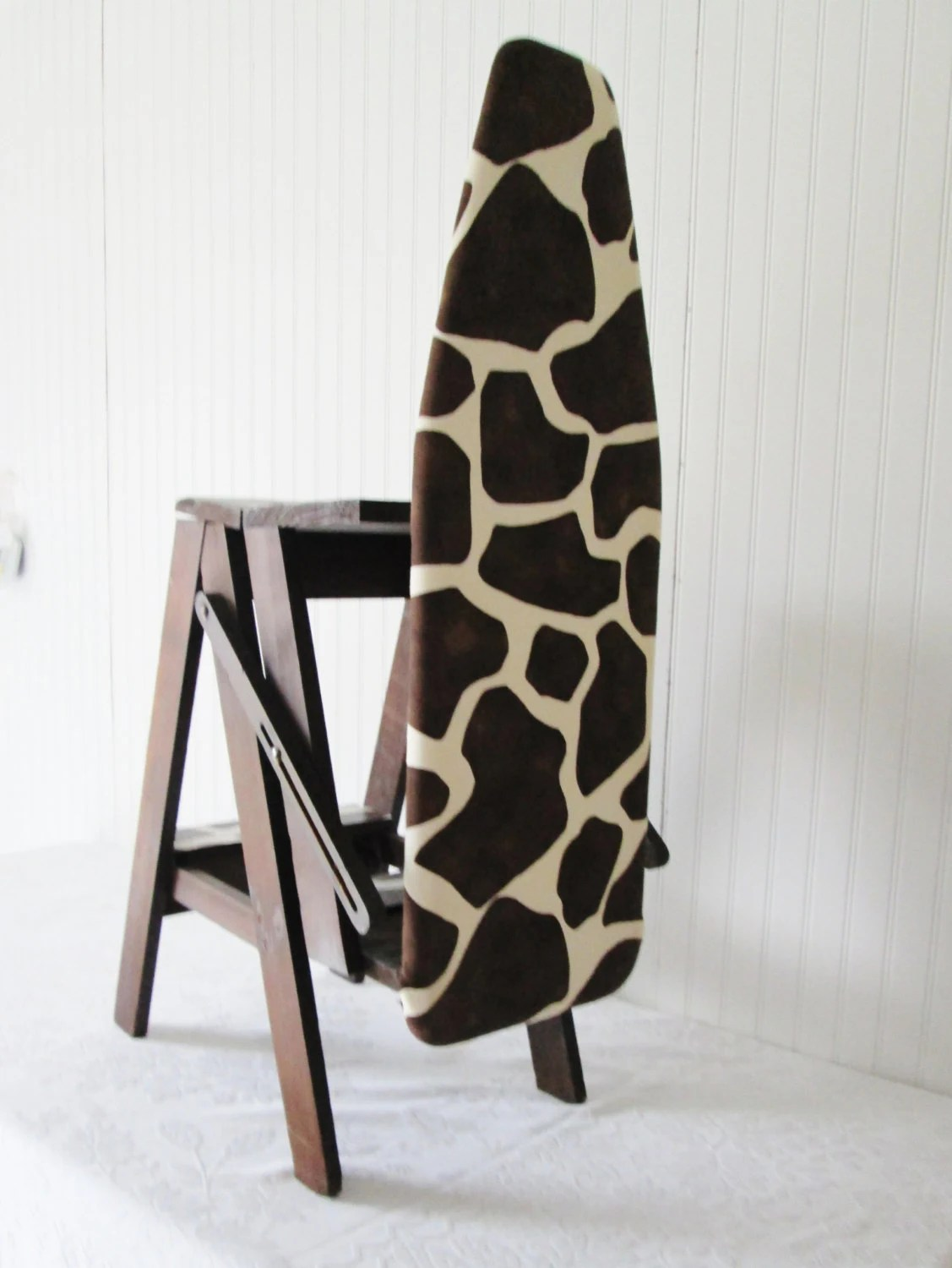 chair step stool ironing board child sized table and chairs set vintage multi purpose ladder