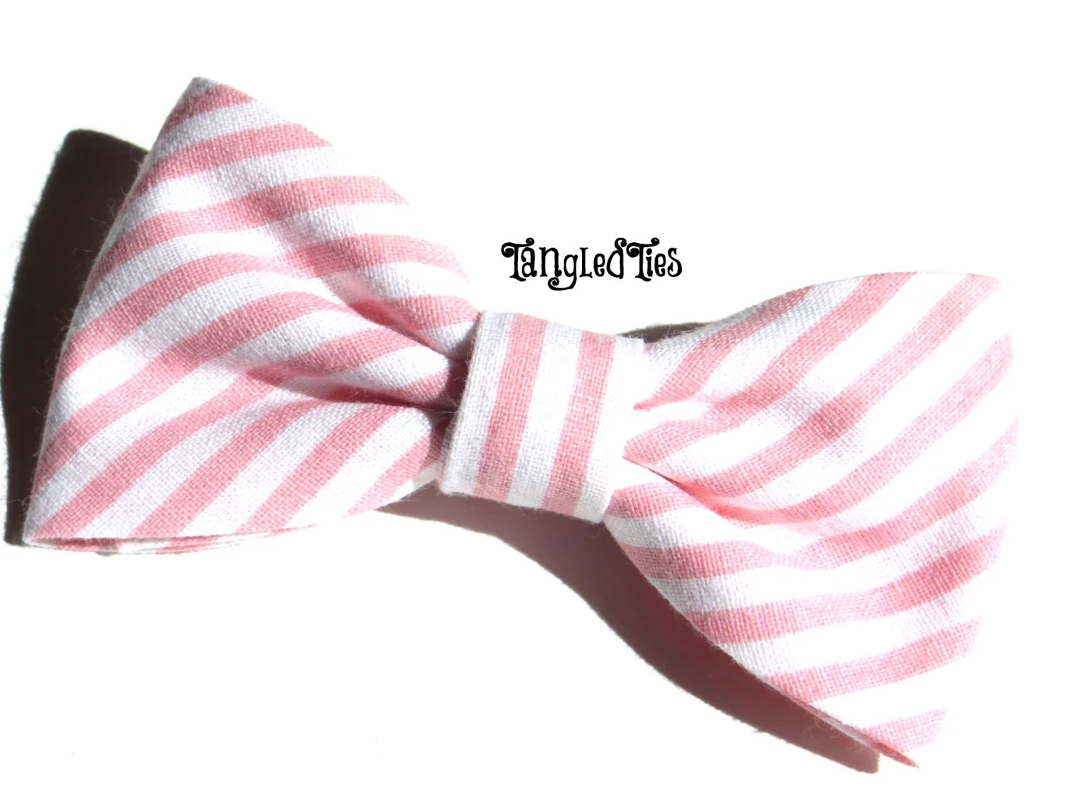 Pin Blush Bow Tie Pink Dotted Bow Tie Blush By