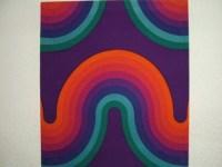 Vintage Verner Panton Mira X Spectrum Curve Fabric Wall