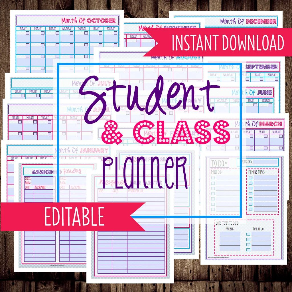 college class planner