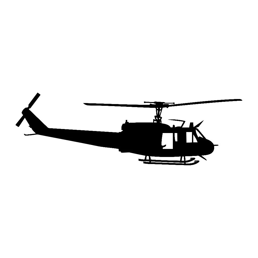 Huey Uh 1 Helicopter Vinyl Decal V1