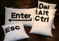 Ctrl Alt Del Enter Esc pillow cushion cover set computer
