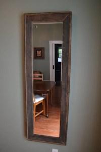 53x17 Reclaimed wood full length mirror