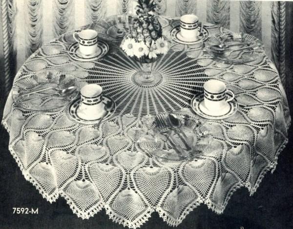 Pineapple Crochet Tablecloth Pattern Vintage Pearlshorecat