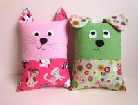 Dog & Cat Pillow Pattern Tutorial PDF Sewing Pattern with