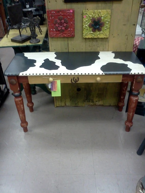 Items Similar To Hand Painted Furniture Wooden Table