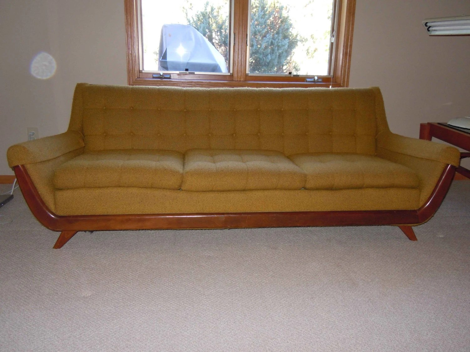 sofa reupholstering children s flip out big w adrian pearsall style gondola norwalk furniture