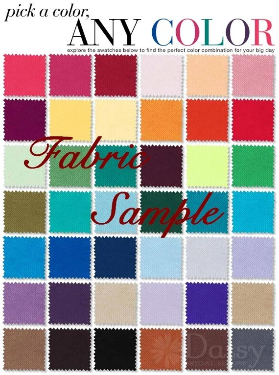 Fabric swatch samples by post bridal satin chiffon for Wedding dress fabric samples