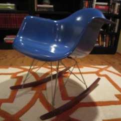 Rocking Chair Runners Replacement Aliexpress Covers Eames Herman Miller Blue Fiberglass Rocker