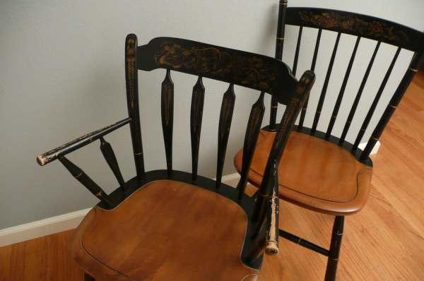 Pair Of Vintage Hitchcock Chairs Meritagemart