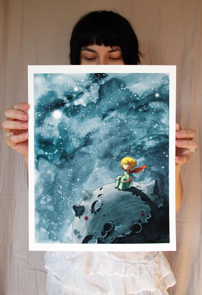 Little Prince Art 11x14in Fine Art Color Archival Print