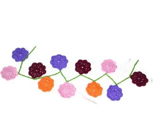 Maybelle Flower Garland - amydscrochet