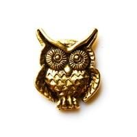 Owl Lapel Pin Tie Tack Valentine's Gift Handmade by Mancornas