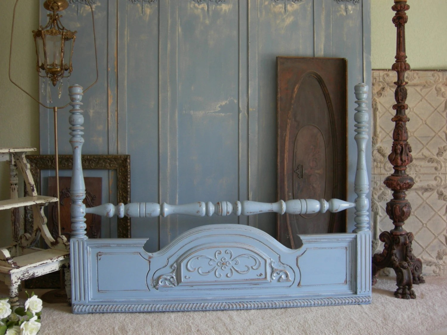 Painted HEADBOARD Queen Or Full Size Bed Shabby Chic Headboard