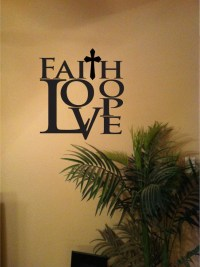 Faith Hope Love Vinyl Wall Art Decal Home Decor in 2 sizes