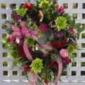 Spring wreath summer front door wreaths red pink by redbarnwreath