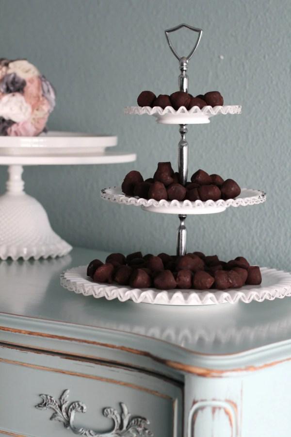3-tier Cake Stand Milk Glass Tiered Rochestudiovintage