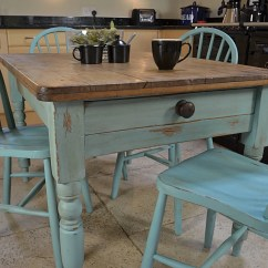 Rustic Wood Kitchen Table And Chairs Bouncy Chair For Baby Shabby Chic Farmhouse Dining With 4 Stickback