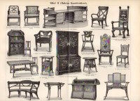 1899 Art Nouveau Furniture Modern Furniture Seat Armchair