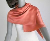 Orange Coral Petite Scarf Tangerine Small Silk Scarf