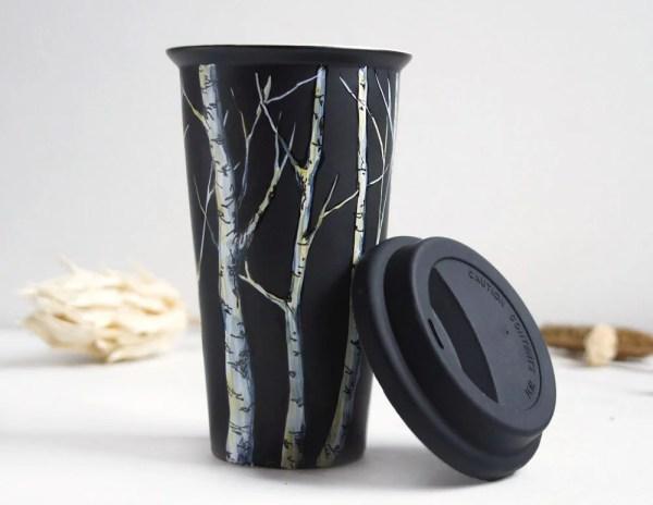 EcoFriendly Black Ceramic Coffee Mug Tree Collection
