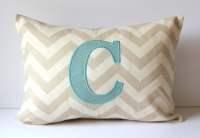 Custom Monogram Initial Pillow Cover Applique by SewGracious
