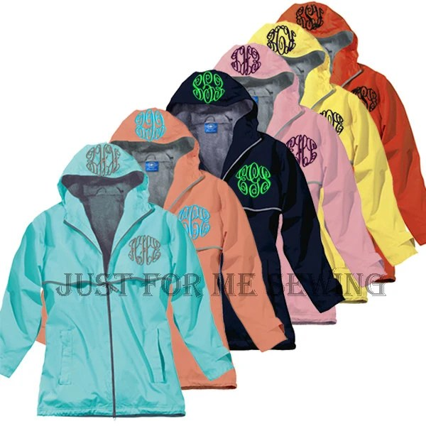 Monogrammed Rain Jacket Personalized Bridesmaids Gifts-Adult Sizes